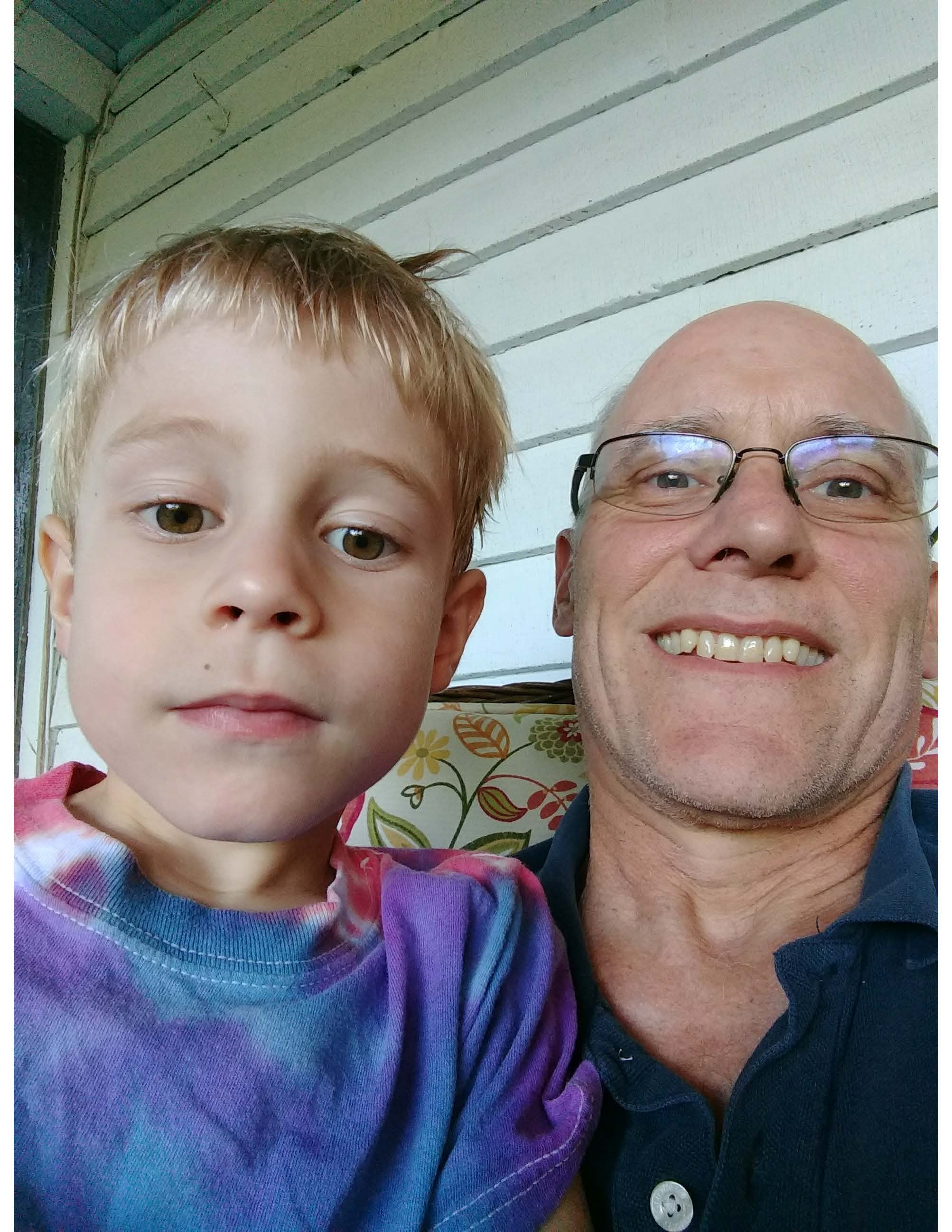 Tuck and grandson