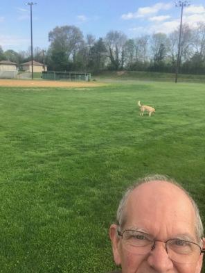 selfie on Brewbaker field